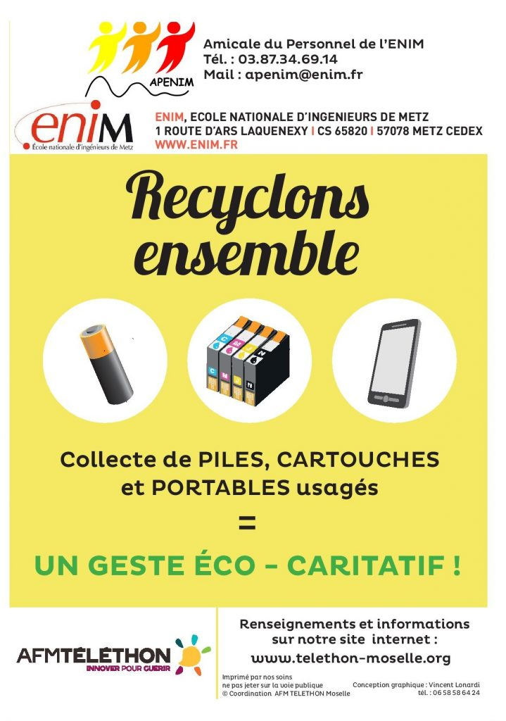 Exemple de Flyer pour la mise en place des éco-collectes